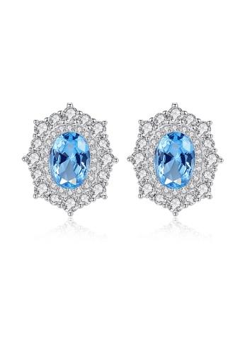 SUNRAIS silver High-end Silver S925 silver fashion earrings DDD58AC7332A03GS_1