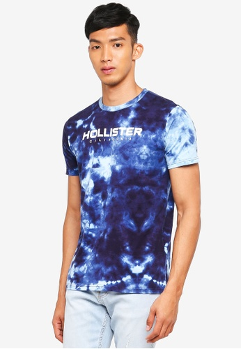 Hollister navy Checkerboard Wash T-Shirt 2C938AAF22E44DGS_1