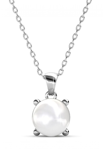 Her Jewellery silver Sweet Pearl Pendant -  Made with premium grade crystals from Austria HE581AC0RAFPMY_1