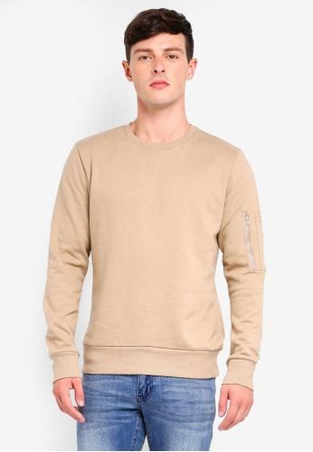 Brave Soul beige Basic Sweatshirt DB53DAA974493CGS_1