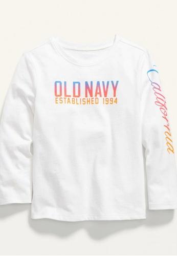 Old Navy white Toddler Girls Long-Sleeve Logo-Graphic Tee C1378KA16EFD54GS_1