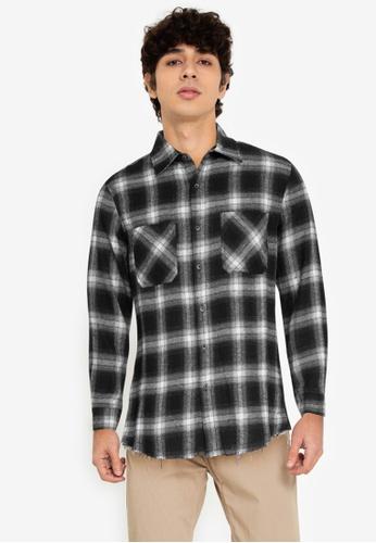 ZALORA BASICS multi Fray End Plaid Shirt 551FEAA8A05F7CGS_1