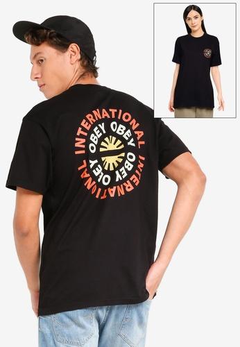 OBEY black Supply & Demand T-Shirt 38C11AA23849A7GS_1