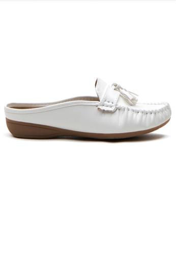Crystal Korea Fashion white Korean New Soft And Comfortable Flat Slippers 67F2ESHE0A0A24GS_1