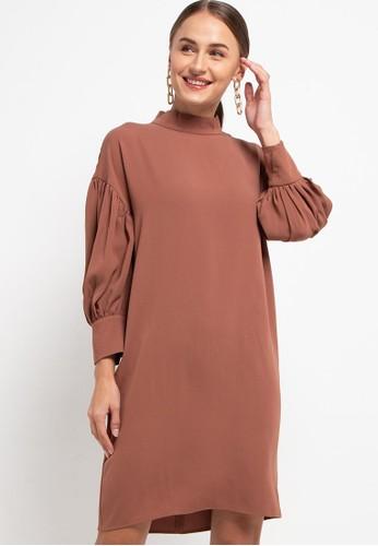 h2 harlan brown Nurture Dress 213CBAAC909CC6GS_1