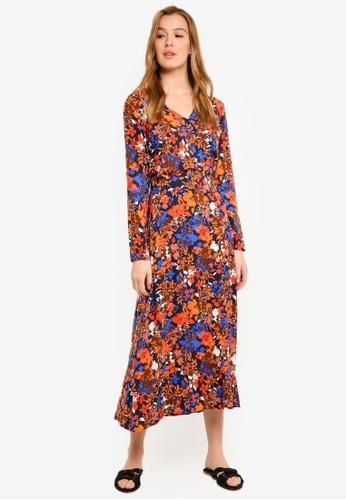 ICHI navy Lianna Dress 92313AAB2ACB0EGS_1