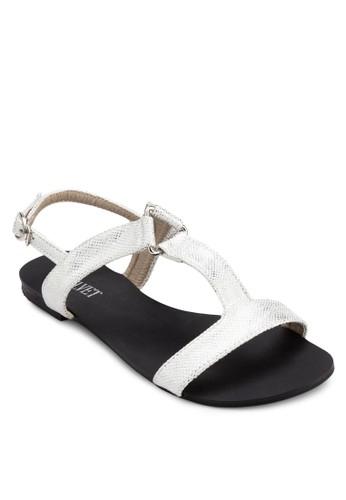 Shelia 工字帶繞踝涼鞋, 女鞋, zalora 泳衣鞋