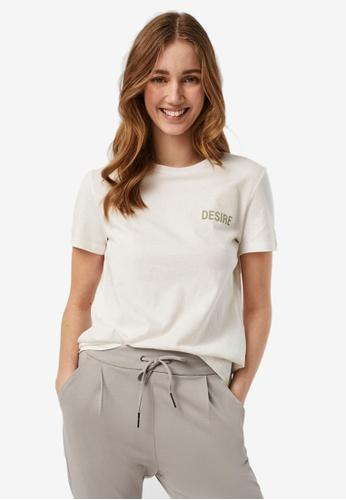 Vero Moda 白色 Emily 短袖T恤 D83FDAAF12F144GS_1