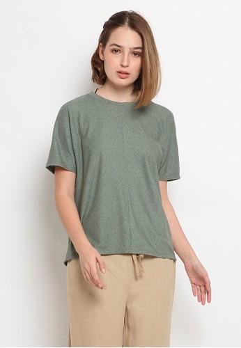 et cetera green Loose Short Sleeve T-Shirt AEFEEAAA0D2211GS_1