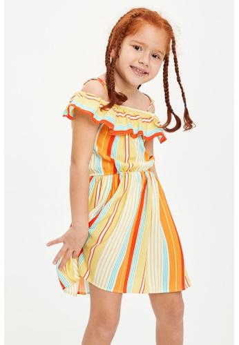 DeFacto beige Girl Dress & Skirt Woven Dress 8962CKA5A9CEE0GS_1