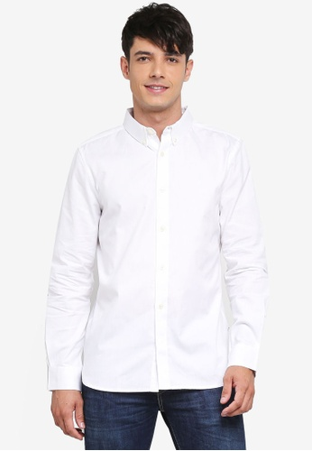 French Connection white Classic Soft Oxford Shirt 82712AA8DA5D24GS_1