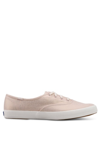 be557ecc2bc Keds pink Champion Metallic Linen Sneakers KE942SH0STF8MY 1