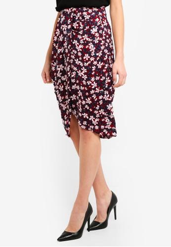 Vero Moda red Billia Knee Skirt F0D62AA472AE3EGS_1