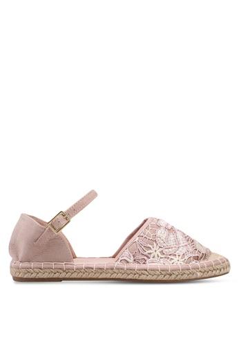 Dorothy Perkins pink Nude Clarissa Lace Espadrilles 6EF6ASH1CD097DGS_1
