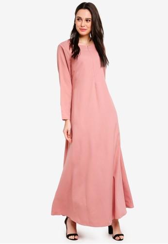 BYN pink Modern Jubah AEB9BAAF997E09GS_1