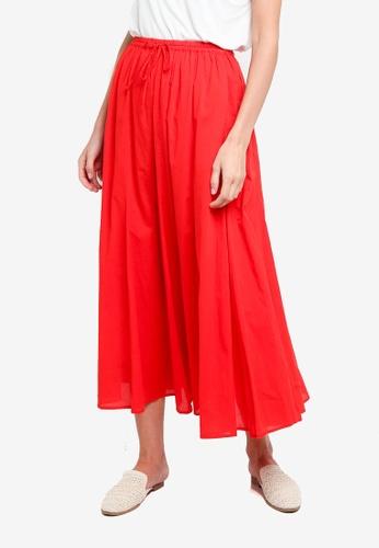 niko and ... red Woven Midi Skirt 4328BAAE2626B1GS_1