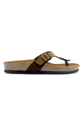 SoleSimple brown Prague - Camel Leather Sandals & Flip Flops 671D8SH516E1A2GS_1
