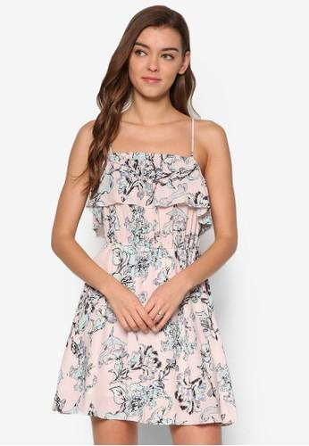 Cheryl 花卉層次細肩帶洋裝, 服飾,esprit 高雄 洋裝