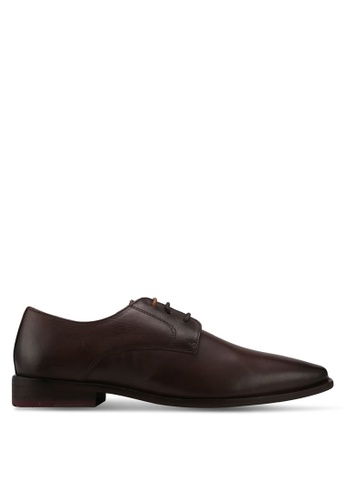 KG Kurt Geiger brown Zac Leather Derby Shoes KG303SH0T1AOMY_1