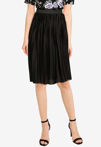 JACQUELINE DE YONG black Boa Pleated Skirt FA3BCAAF0A6798GS_1
