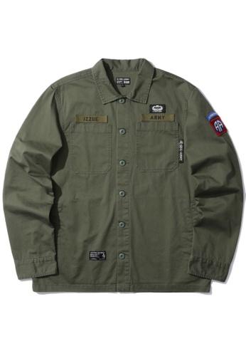 izzue green Military shirt 3024DAAC27CC6BGS_1