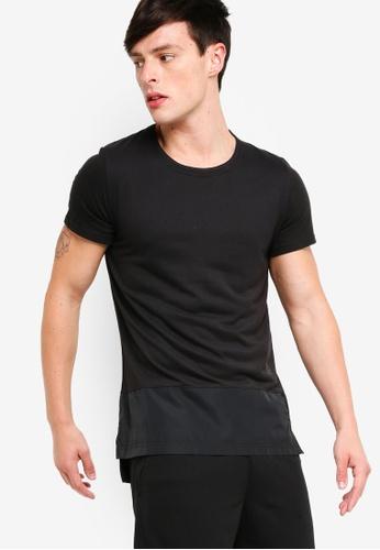 Reebok 黑色 1 Series TS Tech 訓練T恤 D8346AA48B4FA5GS_1