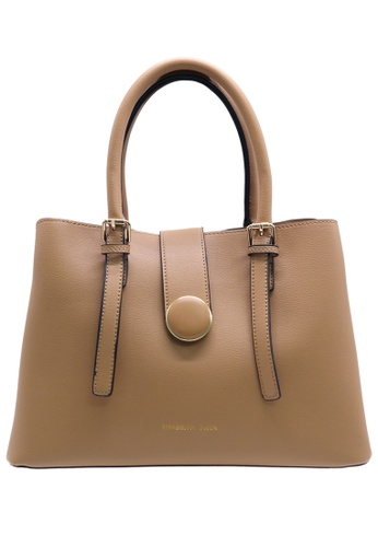 STRAWBERRY QUEEN beige Strawberry Queen Office-friendly Minimalist Handbag - Souffle (Beige) C0695ACBB96D99GS_1