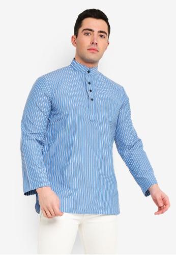 73d811802022a3 Buy FARIS JEFFREY Kurta Farrel Thick Stripe Online | ZALORA Malaysia