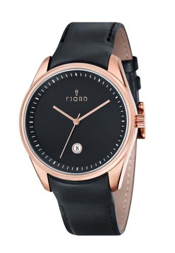 Fjord black Fjord Men's Integrated Genuine Leather Watch - FJ-3002-03 2C0E5ACAD85110GS_1