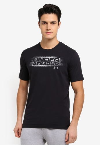 Under Armour black UA Phase Wordmark T-Shirt UN337AA0SU7CMY_1