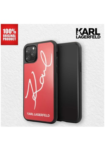 KARL LAGERFELD red Casing iPhone 11 Pro Max Karl Signature Karl Lagerfeld - Red 3B295ES53777F3GS_1