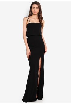 41652a1f7 MISSGUIDED Square Neck Overlay Maxi Dress S$ 77.90. Sizes 6 8 10 12 14 ·  OVS red Open Back ...