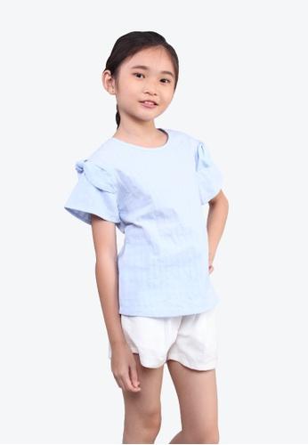 SODA blue Ribbon Sleeves Blouse 869E9KABF22EB0GS_1
