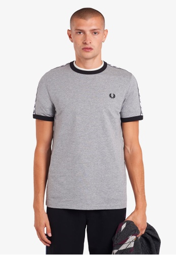 Fred Perry grey M6347 - Taped Ringer T-Shirt - (Steel Marl) C7501AA80A1897GS_1