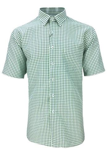 Pacolino green Pacolino - Checker Formal Casual Short Sleeve Men Shirt B37F7AA23D6A73GS_1