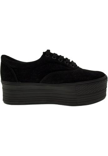 Maxstar black Maxstar Women's C50 5 Holes Platform Suede Low Top Sneakers US Women Size MA164SH65PRUSG_1