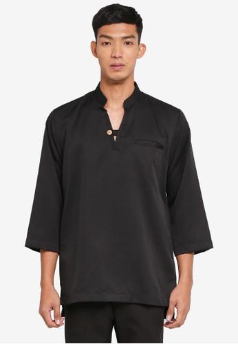 Klozet Kuala Lumpur 黑色 Kurta Regular Mareek上衣 5961DAA0ED201FGS_1