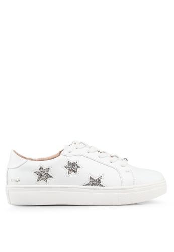 ONLY 白色 仿皮運動鞋 8942BSHC4D4FC2GS_1