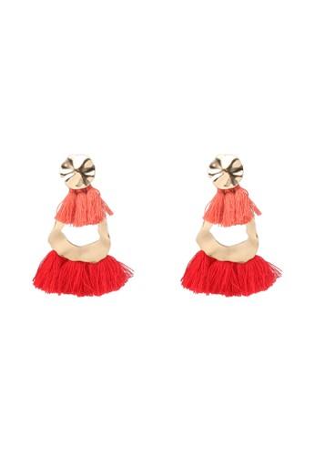 MANGO red Pompon Beads Earrings 47831AC17EAA98GS_1