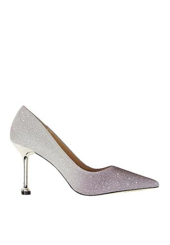 Twenty Eight Shoes 紫色 閃粉漸變色晚裝及新娘鞋 VP07551 FFC37SH4335109GS_1