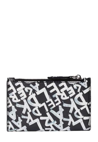 KARL LAGERFELD black K/Ikon Graffiti Folded Ch 5E93DAC45CA970GS_1