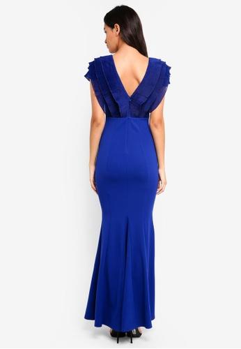 edc5d85ce0 Buy Lipsy V-Neck Ruffle Maxi Dress Online on ZALORA Singapore