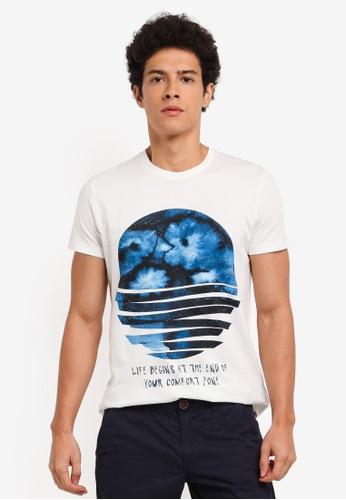 ESPRIT white Short Sleeve T-Shirt 9B3B2AAA82A9BDGS_1