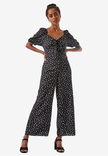 Dorothy Perkins black Petite Monochrome Jumpsuit 10E49AAF42A8E8GS_1