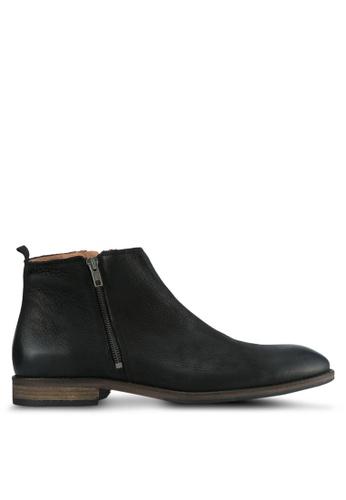 Dune London black Double Zip Casual Boots DU588SH0SD8YMY_1