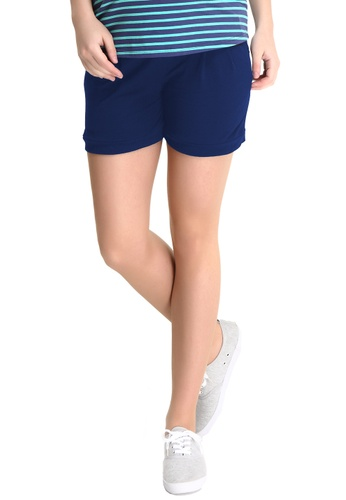 Bove by Spring Maternity navy Knitted Cotton Spandex Shorts LB1604 SP010AA53ULMSG_1