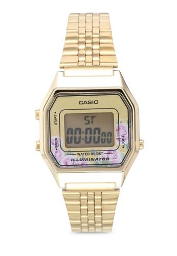 Casio 金色 Casio LA680WGA-4CDF 手錶 D683BACF9872DCGS_1