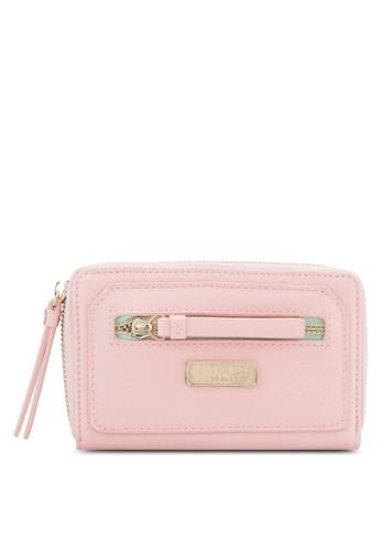 Unisa pink Unisa Saffiano Medium Ladies Zip-Up Wallet UN821AC69EGCMY_1