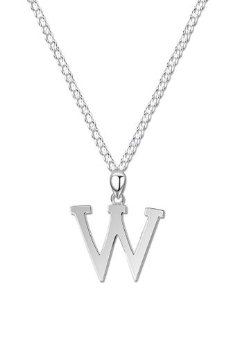 SC Tom Silver silver Letter Pendant with Chain SC872AC0J8MQPH_1