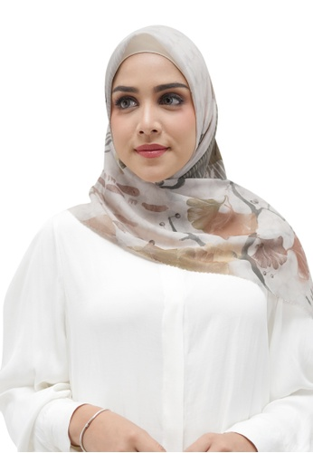 Buttonscarves white Buttonscarves Ginkgo Voile Square Tofu 5712DAAAFB2F5DGS_1